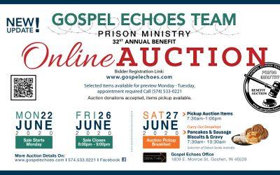 Update Gospel Echoes Benefit Auction- Goshen, IN